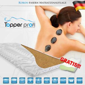 Kokos Topper 70x200 Matratzenauflage KOKOS Matratzenschoner Kokosfaser+ 1 Kissen