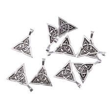 5pcs triquetra trinity celtic knot pagan Tibetan Silver Bead charms pendante