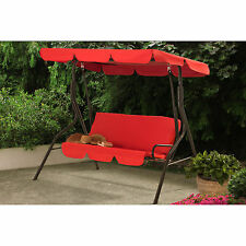 Red 2 Person Canopy Patio Swing Home Outdoor Leisure Seating Furniture Garden