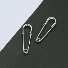 Punk Unisex Silver/Gold/Black Safety Pin Ear Hook Stud Simple Unique Earrings