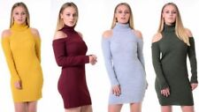 High Neck/Funnel Neck Stretch Dresses for Women