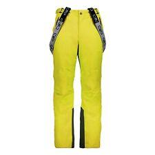 CMP Pantalones Esquí Snowboard Man Amarillo Cortavientos Impermeable Cálidos