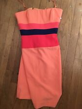 Bcbg Max Azria Dress 8 Strapless Orange Pink Sexy Cocktail Dress