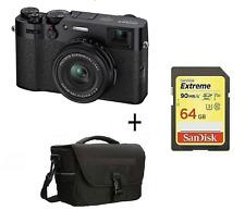 X100V Mirrorless Digital Camera Black + 64GB SD CARD  + CASE / Stock in UK