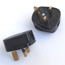 2 x 13 A Nero Resistente agli urti Spine 230 V 13 Amp UK BS1363/A