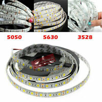 5M SMD 300 600 LED 3528 3014 5050 5630 Waterproof Flexible White Strip Light 12V