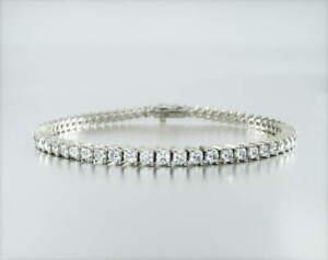 **Video** 5 Carats 100% Natural Round Diamond Tennis Bracelet In Gold / Platinum