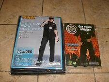 CSI DELUXE COSTUME & BONUS HOLSTER  HALLOWEEN COSTUME ONE FITS MOST ADULTS NEW