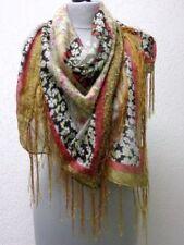 Blumenmuster Fransen Damen-Schals & -Tücher aus 100% Baumwolle