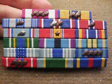 Vintage Usaf Ribbon Bar w/ 17 Medals