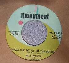 Billy Walker – From The Bottle To The Bottom / She (VG+)