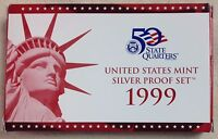 1999 US MINT SILVER PROOF SET - Complete w/ Original Box and COA