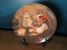 Vintage Norman Rockwell China Plate Ship Builder Collector Bradford Exchange '80