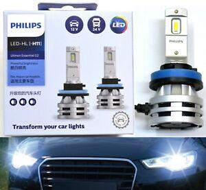 Philips Ultinon LED G2 6500K White H11 Two Bulbs Head Light High Beam Upgrade K
