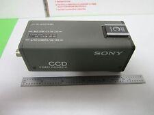 MICROSCOPE INSPECTION VIDEO CAMERA CCD SONY SSC-D5 OPTICS AS IS BIN#N5-01