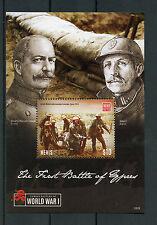 Nieves 2015 estampillada sin montar o nunca montada Wwi 1st Batalla de Ypres batallas famosas I GUERRA MUNDIAL SELLOS 1v S/S