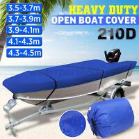 3.5-3.7-3.9-4.1-4.3-4.5m Trailerable Heavy Duty Open Boat Cover Waterproof  //