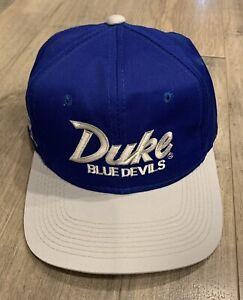 VINTAGE UNIVERSITY OF DUKE BLUE DEVILS BASEBALL CAP SNAP BACK