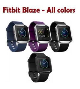 Fitbit Blaze Activity Tracker Fitness Watch Black Blue Plum GunMetal Small Large