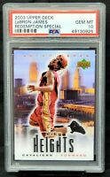 2003 Upper Deck Unique RC Redemption LEBRON JAMES Rookie Card PSA 10 GEM MINT!!