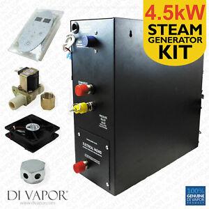 4.5kW Steam Room or Shower Kit   Steam Generator 220V   Control panel   1 Metre