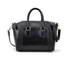 Cocodile Pattern Black Ladies/girls Leather tote Handbag Purse
