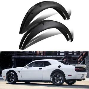 For Dodge Challenger RT SRT SXT Fender Flares Wide Body Kit Wheel Arches Black