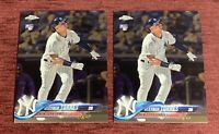 Lot of (2) 2018 Topps Chrome Update GLEYBER TORRES Rookie #HMT9 RC NY Yankees🔥