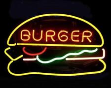 "New Burgers Open Bar Neon Light Sign 19""x15"""