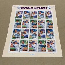 2006 BASEBALL SLUGGERS STAMPS SC# 4080-83 FACE VALUE  $7.80 MNH PANE OF 20