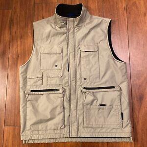 Weatherproof Garment Co Youth L Outdoor Fishing Performance Vest Khaki Fleece