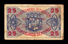 B-D-M España Billete Local Cartagena 25 Céntimos 1937 MBC- aVF