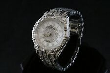 Croton Men's Balliamo Austrian Crystal Quartz Watch CN307545RHMP Silver-tone NEW