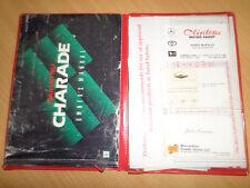 Daihatsu Charade G202 Owner's Manual S/N# V6010