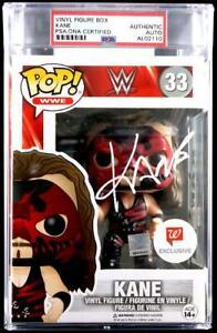 WWE KANE HAND SIGNED ENCAPSULATED FUNKO POP #33 SLABBED PSA DNA COA VERY RARE