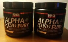 Lot of 2 Force Factor Alpha King Fury Drink Powder with AlphaFen, CarnoSyn 20×2