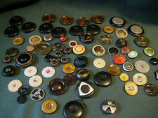 antique vintage BUTTON LOT Celluloid early plastic large coat Assortment sets 70