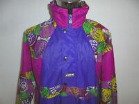 vintage K.WAY Nylon Jacke Regenjacke 80s K-WAY glanz kway new wave oldschool M