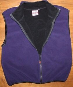 Women's    SPYDER     fleece  Vest   jacket  Medium   Purple   EUC