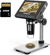 Coin Microscope 1000x 43 Lcd Digital With Stand 8 Led Light Photo Video Capture