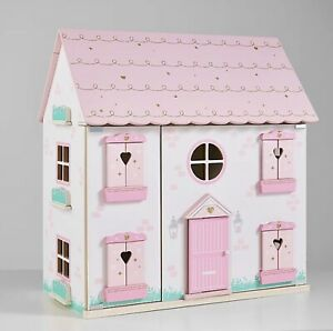Children Kids Girls Play Large Pink Princess Wooden Dolls House BRAND NEW BOXED