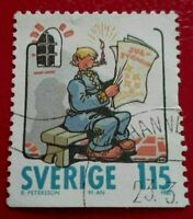 Sweden:1980 Swedish Comic Strips 1.15 Kr. Rare & Collectible Stamp.