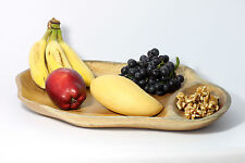 "Wooden Tray Platter 16"" Handmade solid Mango wood Fruit Snacks Nuts Dips etc"