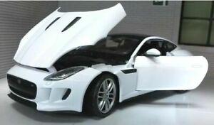 Jaguar F Type Coupé Blanc Welly 1:24 Echelle Voiture Miniature 2015 24060 v6