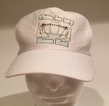 Vintage Faded Hoover Dam Snap Back White Hat Retro Fast Ship Rare Dam Hat