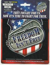 """Freedom Isn't Free Full Color Vinyl 5"""" x 5 1/4"""" Window Decal Show Your Support"""
