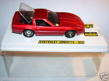SOLIDO CHEVROLET CORVETTE CABRIOLET ROUGE METAL REF1513