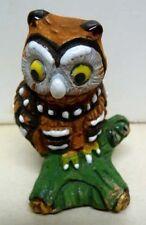 H.L. VIDA-DESIGNER SET OF 5 SMALL OWLS FIGURINES-SIGNED-RARE