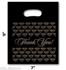 100pc Thank You Bags Black Thank You Bags Merchandise Plastic Retail Bags 7x9h
