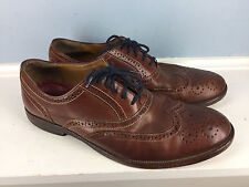 JOHNSTON AND MURPHY Brown Leather Wingtip Oxford 9